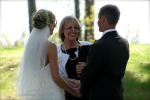 Northern Michigan Wedding Officiants, Traverse City — Waterside Wedding out Old Mission Peninsula in Traverse City