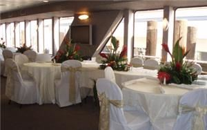 Silver Package, Smooth Sailing Celebrations, a free nautical event planning service for 12 to 1,200 guests, Weehawken — Formal Dining Salon