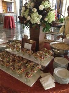 Elegant Wedding Package, Diamond Club at Temple University, Philadelphia — hors d'oeuvres station
