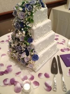 Dinner Buffet Wedding Menu , Diamond Club at Temple University, Philadelphia — wedding cake, prepared by our in house baker!