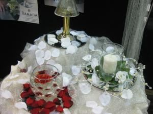 The Silver Wedding Package, Ramada Plaza Green Bay, Green Bay — Samples of our complimentary center pieces with examples of what we can do for decorations!