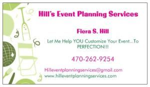 Hill's Event Planning Services, LLC, Monroe