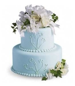 Sweet Pea and Roses Cake Decoration , Agape Flowers & Gifts, Gaithersburg — Sweet Pea and Roses Cake Decoration