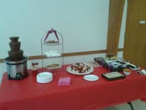 Self-Service Mini Chocolate Fondue Fountain (up to 40 guests), The Chocolate Chick, Herndon — Mini Fountain