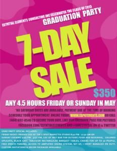 Economy Graduation Package, The Event Spot @ MDF Studio, Marietta
