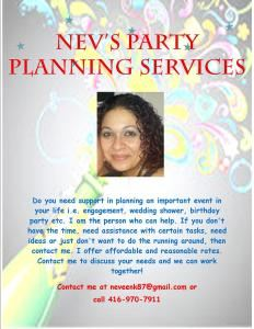 Nev's Party Planning Services
