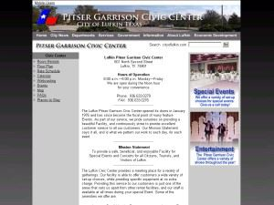Lufkin's Pitser Garrison Civic Center