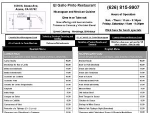 El Gallo Pinto Restaurant