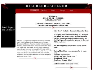 Bill Reed, Caterer