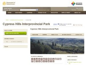 Cypress Hills Interprovincial Park Campground