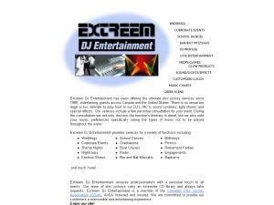Extreem DJ Entertainment