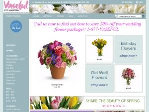 Vaseful Flowers And Gift