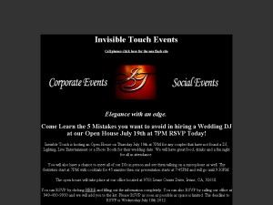 Invisible Touch Events - Valencia