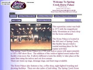 Spring Creek Horse Palace