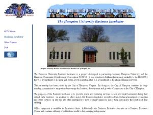 The Hampton University Business Incubator