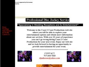 Coast 2 Coast Productions DJ Service