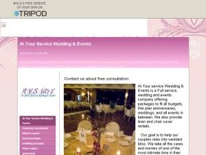 At Your Service Wedding & Events