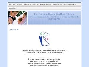 Joie Cameron-Brown, Wedding Officiant