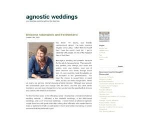 Agnostic Weddings