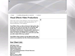 Visual Effects Video Productions