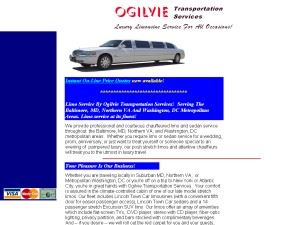 Limo Service By Ogilvie