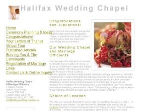 Halifax Wedding / Marriage Officiants