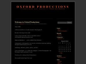 Oxford Productions - Photography