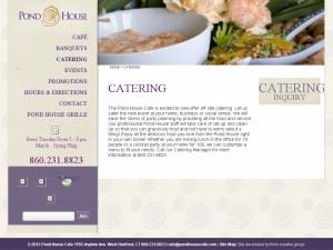 Pond House Cafe Catering