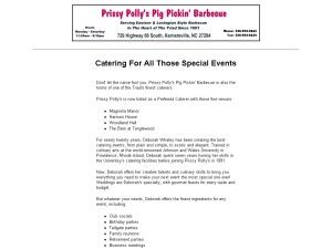 Prissy Polly's Pig Pickin' Barbecue