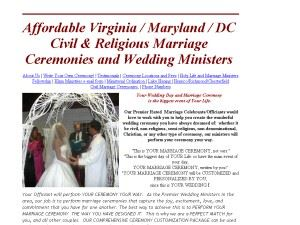 Loudoun Civil Marriage Celebrants/Wedding Ministers