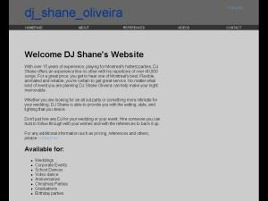 Shane Oliveira Disc Jockey Services