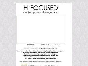 Hi Focused Wedding Videography
