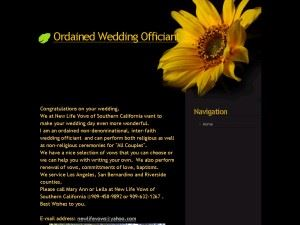 Ordained Wedding Officiant