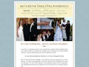 Reverend Giovanni Weddings