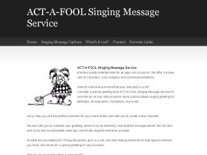 ACT-A-FOOL singing messages