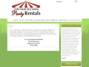 For Your Occasion Party Rentals, Inc