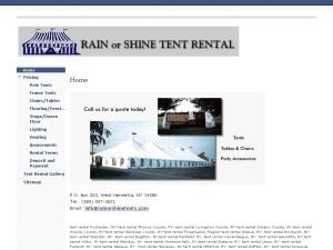 Rain Or Shine Tent Rental