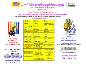 Clown Supplies