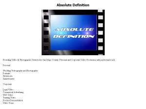Absolute Definition