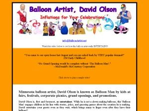 Balloon Artist David Olson