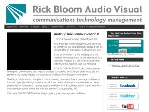 Rick Bloom Audio Visual