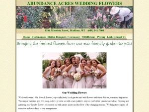 Abundance Acres Wedding Flowers