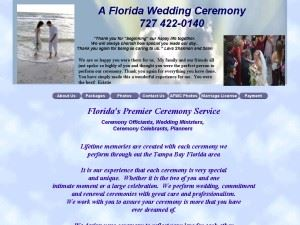 A Florida Wedding Ceremony - Indian Rocks Beach