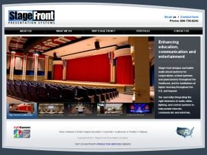 Stage Front Presentation and Performance Systems