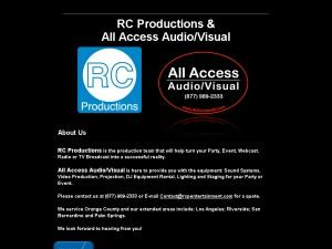 RC Productions, Inc