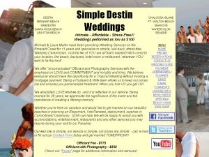 Simple Destin Weddings
