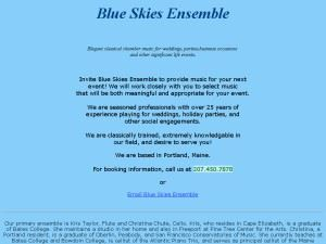 Blue Skies Ensemble