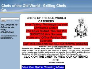 Chefs Old World Cafe Catering