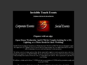 Invisible Touch Events - San Bernardino