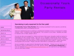 Occasionally Yours Party Rentals